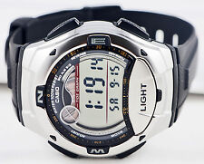 Casio W-753-1AV Moon and Tide Graph Watch 2 Time Zones 10 Year Battery New