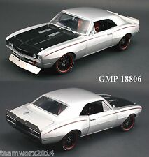 GMP 1967 Chevrolet Street Fighter Camaro Diecast Car 1:18 18806 Silver