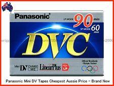 10 X PANASONIC Mini DV Tapes - 60SP/90LP Min Brand New - 10 PACK AUSSIE STOCK