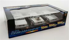 Back to the Future I-III Diecast Model 3-Pack 1/43 DMC DeLorean By Vitesse