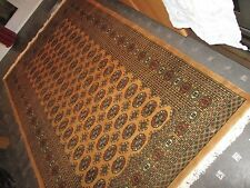 BOKHARA, GOLD,  GENUINE,  HAND-KNOTTED,   WOOL RUG....8' x 5'....FREE DELIVERY