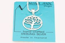 Tree of Life 925 Sterling Silver with CZ Surround Pendant Necklace + Free Chain