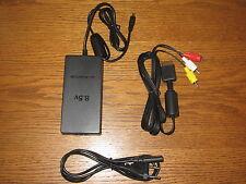 Netzteil Stromkabel für Playstation 2 Slim Konsole + AV/TV Chinch Kabel PS 2 NEU