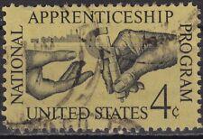 USA 1962 Mi.-Nr. 831, Sc 1201, 4 C. gestempelt Nationale Lehrlingsausbildung