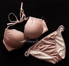 BNWT Victoria's Secret 36D/80D Swim bikini push up bra & L bottoms holiday beach