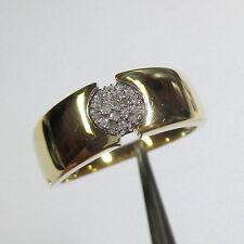 1162 - Eleganter Ring aus Gold 585 gelb/weiß mit 19 Diamanten - 2155