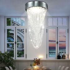 LED 12W Leuchte Hänge Lüster Pendel Decken Bad Lampe Acryl Kristall Kronleuchter