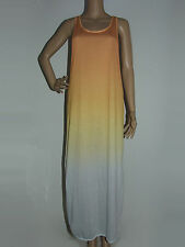 MULTI - COLOUR RACER BACK OMBRE LONG MUSCLE SHEER DRESS SIZE 10 - QUICKSILVER