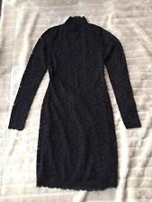 BNWT Victorias Secret Moda International Lace Dress Size US Medium Black
