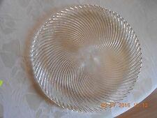 Riedel, 2 Glasteller mit Spiralmuster, 1. Wahl