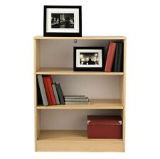 Small Bookcase Beech Budget 3 Book Shelves Home Office Study