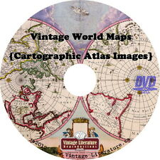 Vintage World Maps { Cartographic Atlas Images } on DVD