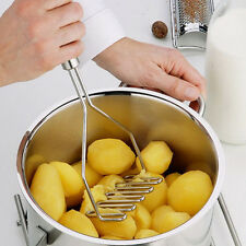 Kitchen Stainless Steel Potato Egg Masher Ricer Vegetable Fruit Crusher Tool G#