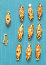 20 x patterned GP push-in clasps, findings for jewellery making crafts