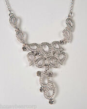 New Avon CRYSTAL PAISLEY Diamond Necklace & Earrings GIFT SET Gorgeous Boxed Set