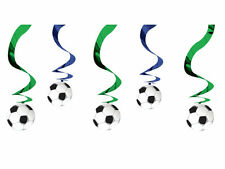 10ft x Football Soccer Birthday Party Hanging Foil Swirl Decorations