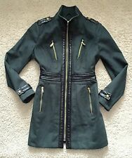 Miss Sixty Green Fitted Jacket Coat / Size M 12 / Premium / New��