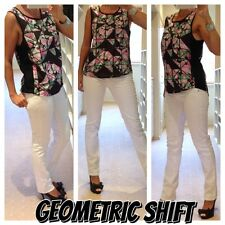 xx REDUCED xx geometric shift relaxed fitting print top tank vest size 10