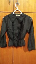 See By Chloe Lace Button Down Peplum Blouse Size 2 US
