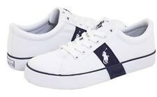 Polo Ralph Lauren Leather Boys\u0026quot;GILES\u0026quot;YOUTH Shoes Size 1.5 White/Blue