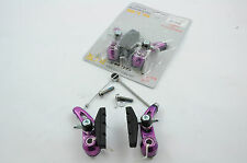 FIXIE MTB 6061 ALLOY CANTI-LEVER BRAKES FRONT AND REAR BRAKE SET PURPLE