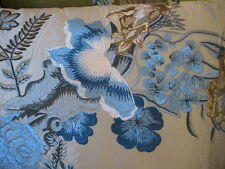 NEW DESIGNERS GUILD ROYAL COLLECTION MOSER WEDGWOOD EMBROIDERED SILK CUSHION OMG