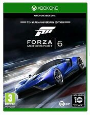 FORZA MOTORSPORT 6 XBOX ONE - 10 YEAR ANNIVERSARY EDITION - NEW & SEALED - FRESH