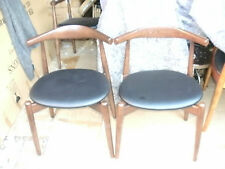 """VITRA INTERIORS PAIR OF RETRO """"CH20 ELBOW"""" DINING CHAIRS/HARDWOOD FRAME"""