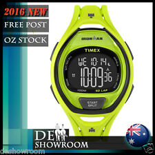 Timex Men's 50-Lap Ironman Triathlon Green Resin Watch TW5M01700 Free Express