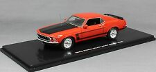 Highway 61 Ford Mustang Boss 302 in Calypso Coral Red 1969 Hand Made Resin 1/43