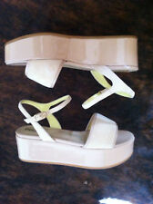 POLLINI NEU WEDGE PLATEAU SANDALEN*37 PUMPS ROSA BEIGE ROSE WILDLEDER WEDGES
