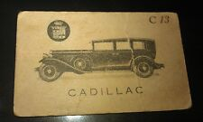 1929 CADILLAC  SEDAN -  Giant Brand Licorice Sweets Australian Trade Card RARE