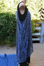 AUTOGRAPH Blue/Black MAXI DRESS Layered Overlay. Size 16 NEW RRP-$99.99 NEW.