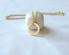 Summer Sale! 18K Gold Karma Circle Necklace Pendant - Simple
