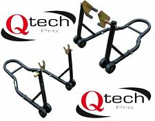 Motorcycle Front & Rear PADDOCK STAND Set Motorbike lift for Bobbins
