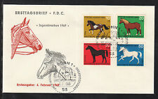 A 110 ) Germany 1969 FDC -  Youth Stamps Horses