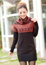 NEW LADIES KNITTED LONG WINTER JUMPER SWEATER KNITWEAR TOP, SIZE 10