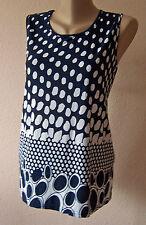 Weichfliessendes Top Shirt Bluse Gr. 44 46 blau/weiß (XL/2XL MAG52) Neu