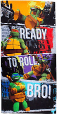 TEENAGE MUTANT NINJA TURTLES GRUNGE BEACH BATH TOWEL KIDS BOYS SWIMMING HOLIDAY