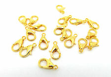 20 Lobster Clasps Gold Plated 12mm  Jewellery Making Findings Fasteners J00840