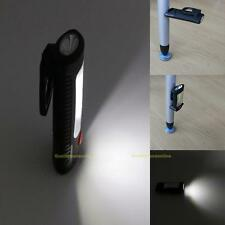 COB LED Work Light Magnetic Bottom Hook Hanging Lamp Flashlight Camping Torch