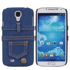 Für Samsung Galaxy S4 Tasche Case Cover Etui Schutz Hülle Bumper Jeans Blumen