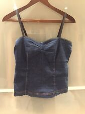 Dolce and Gabanna D&G Denim Corset Style Top Stretchy Size M