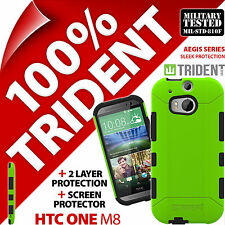 New Trident Aegis Protective Case Rugged Cover + Screen Protector for HTC One M8