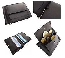 Leder Geldbörse Geldklammer Etui Dollarclip Geldbeutel Brieftasche Black #219