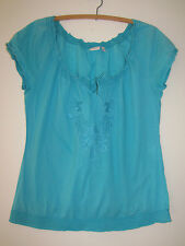 Ladies ESPRIT Blue Top Size UK8 (8-10)