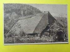 Alte Ansichtskarte, Hof in den Vogesen bei Straßburg gelaufen 1916