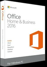 Microsoft Office Home and Business 2016 Orginal Vollversion 32/64bit kein Abo
