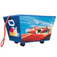 Disney Cars rollbare Aufbewahrungsbox Rollbox Spielzeugkiste Rädern NEU #3752