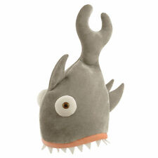 NOVELTY SHARK BITE HAT FANCY DRESS ANIMALS FISH JAWS COSTUME ADULT STAG NIGHT